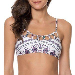 Red Carter Ciao Bella Strappy Bralette Bikini Top